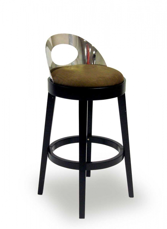 Vista 26 Inch Stationary Barstool - Brown - Armen Living