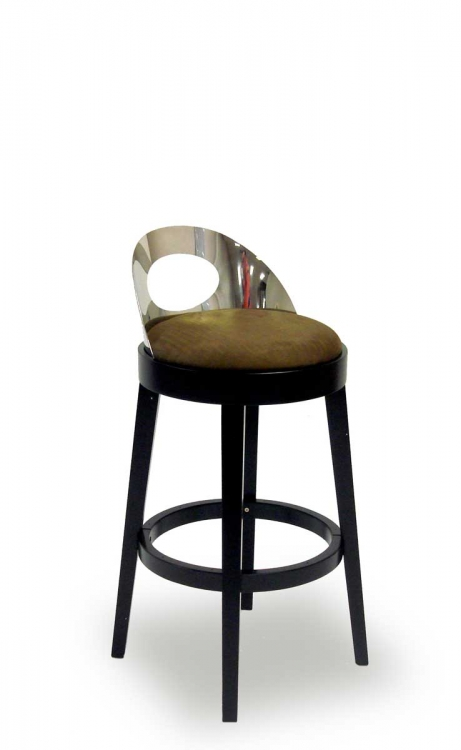 Vista 30 Inch Stationary Barstool - Brown - Armen Living