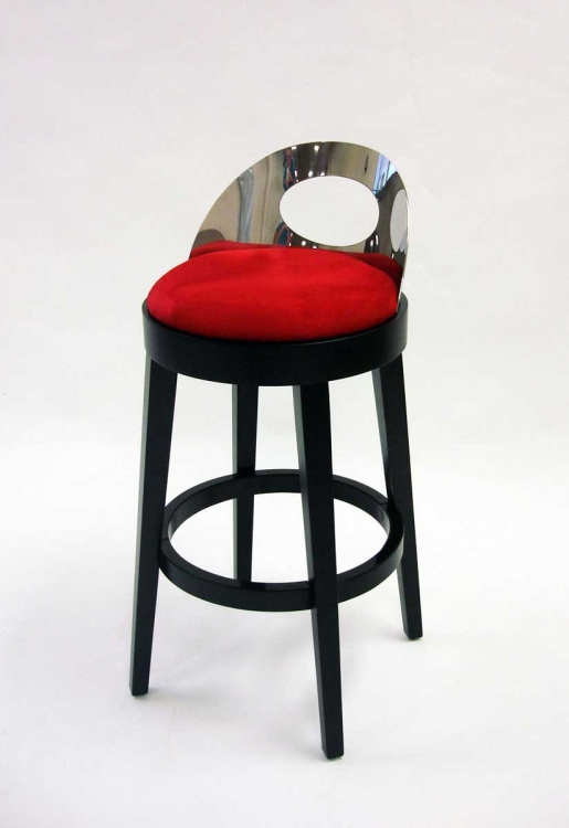 Vista 30 Inch Stationary Barstool - Red - Armen Living