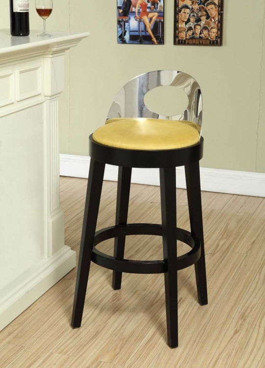 Vista 26 Inch Stationary Barstool - Yellow - Armen Living