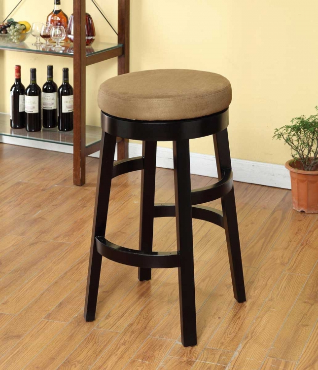 Halo 30 Inch Swivel Barstool - Brown Microfiber