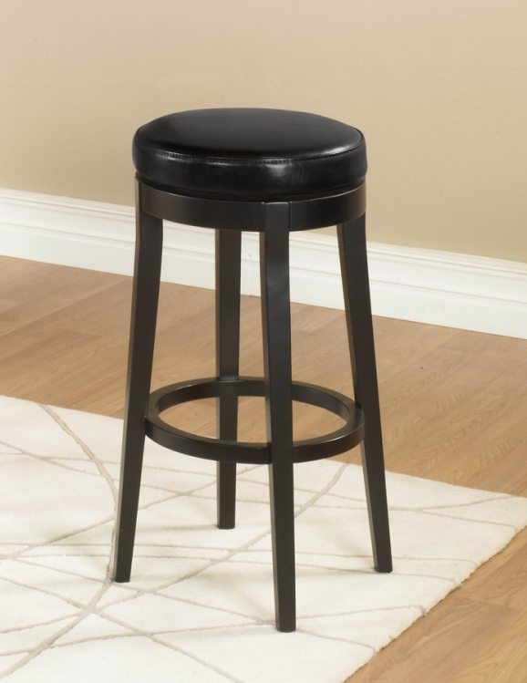 Mbs-450 30in Backless Swivel Barstool - Black - Armen Living