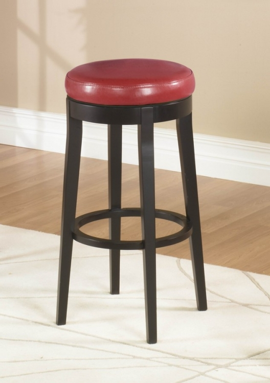 Mbs-450 26in Backless Swivel Barstool - Red - Armen Living