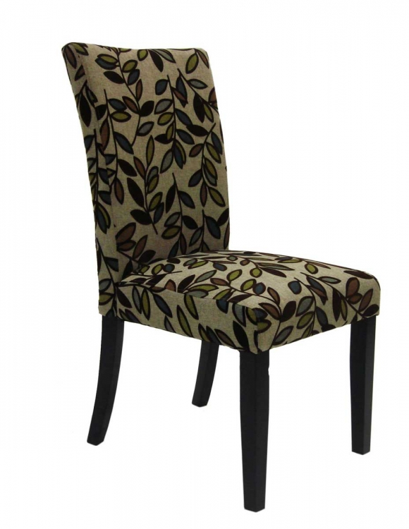 Tree Leaf Fabric Side Chair - Armen Living