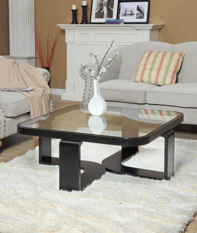 Callum Square Coffee Table - Black - Armen Living