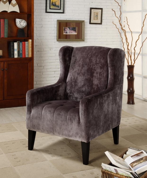 Madera Gray Club Chair - Armen Living