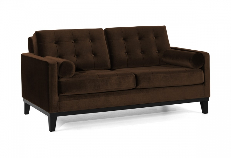 Centennial Loveseat Brown Velvet - Armen Living