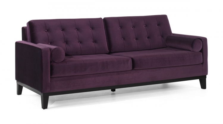 Centennial Sofa Purple Velvet - Armen Living