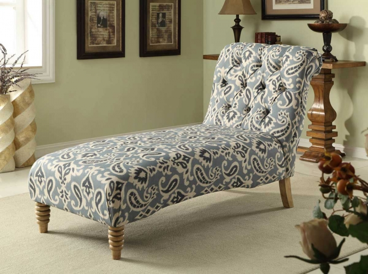 Tufted Chaise - Blue