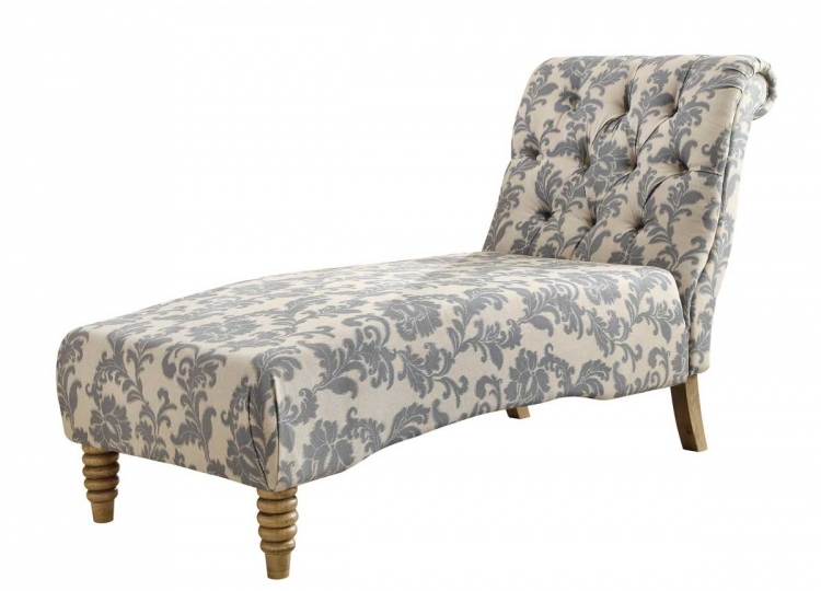 Tufted Chaise - Grey