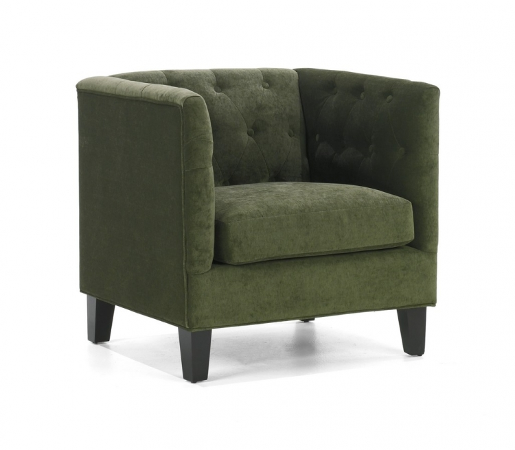Melrose Chair Green Chenille - Armen Living