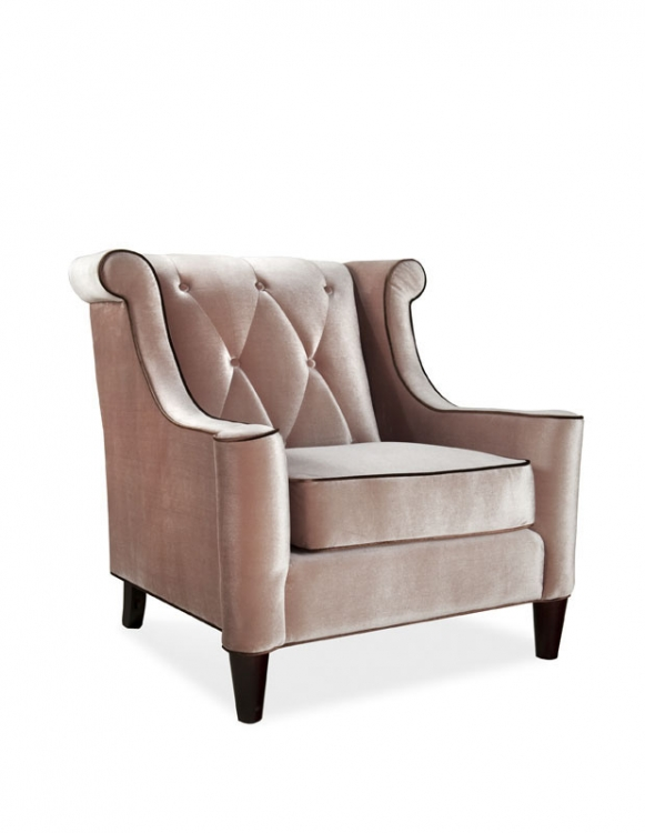 Barrister Chair Caramel Velvet - Armen Living