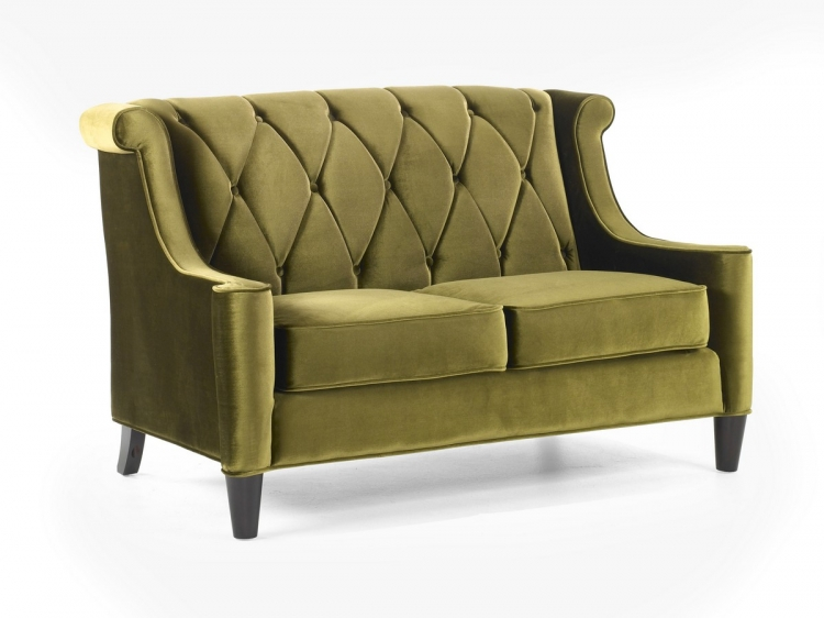 Barrister Loveseat Green Velvet