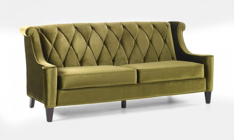 Barrister Sofa Green Velvet - Armen Living