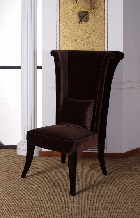 Mad Hatter Dining Chair - Brown - Armen Living