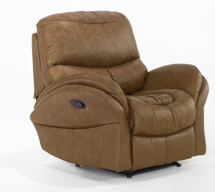 Idaho Recliner Chair Whisky Leathermatch - Armen Living