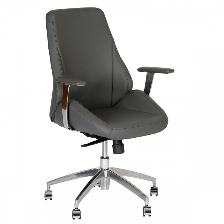 Argo Contemporary Office Chair In Gray and Chrome