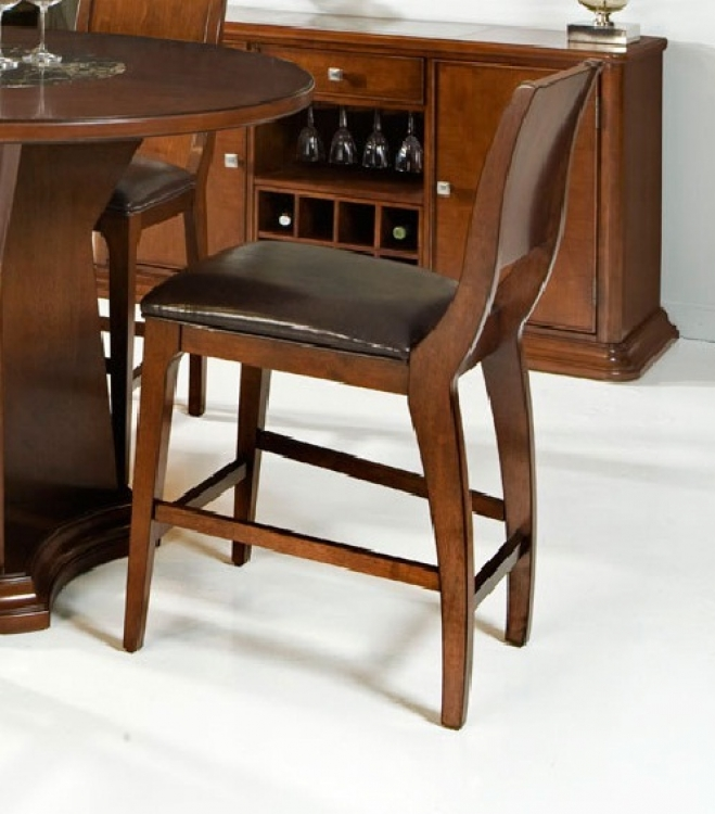 Ashton Counter Stool - Cherry - Armen Living