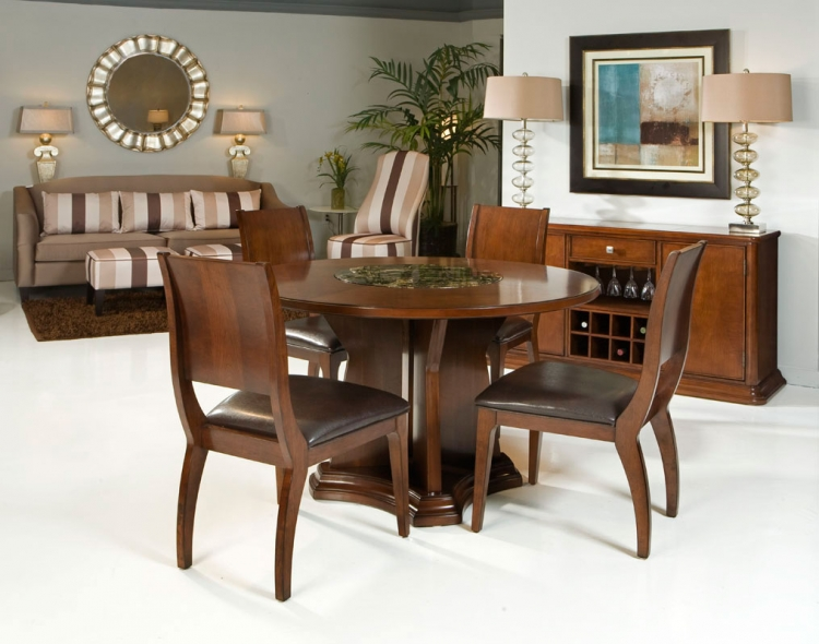 Ashton Dining Table Set - Cherry - Armen Living