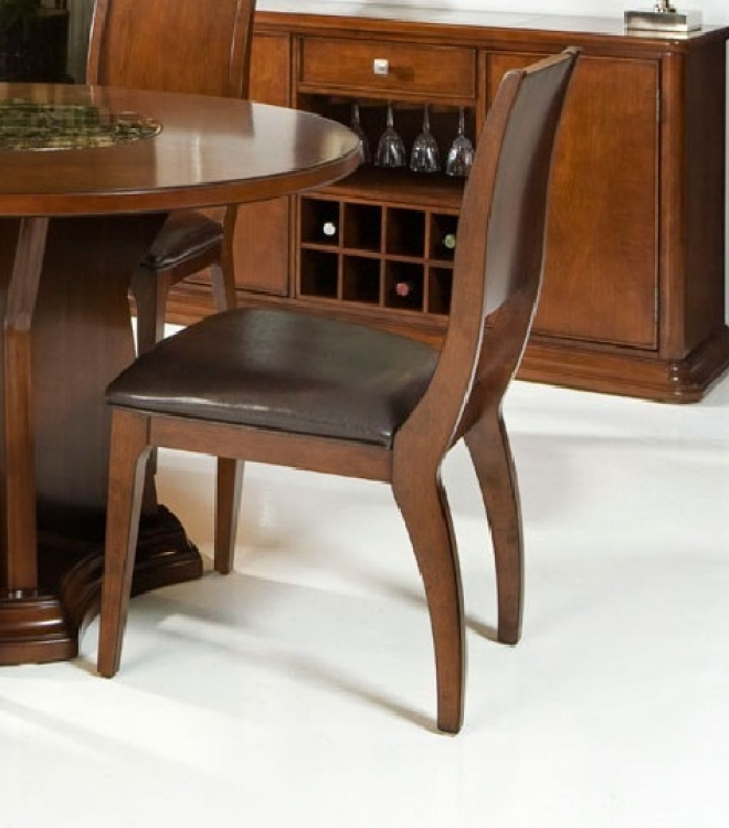 Ashton Side Chair - Cherry - Armen Living