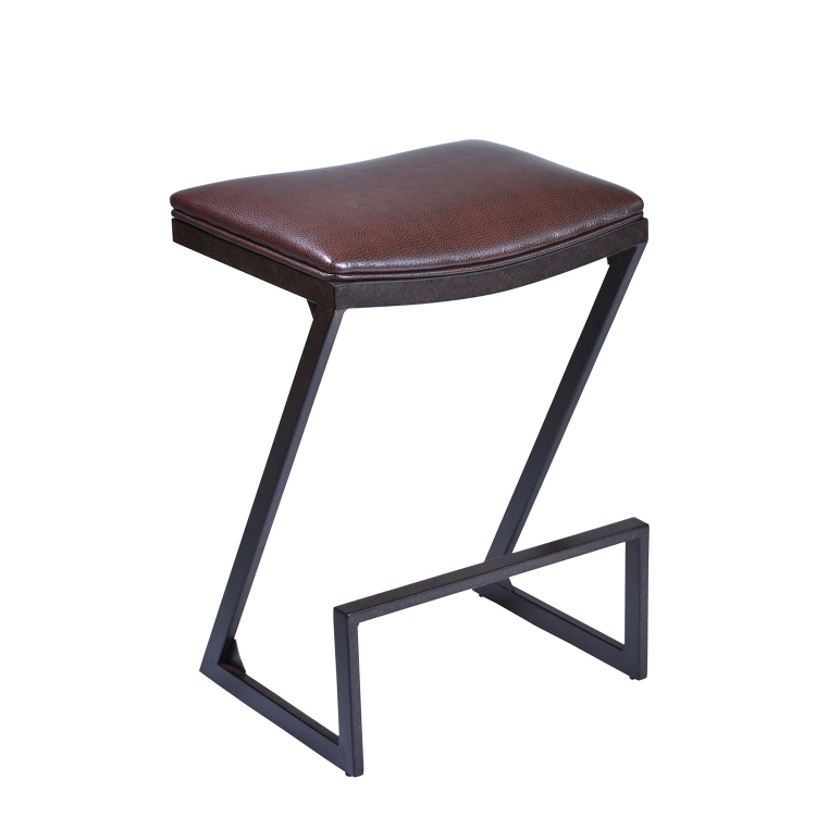 Atlantis 26-inch Bar Stool - Brown Leatherette