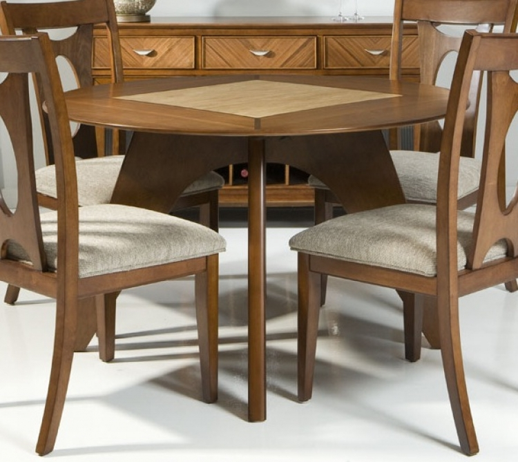 Avalon Dining Table - Walnut - Armen Living