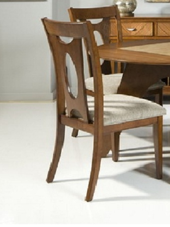 Avalon Side Chair - Walnut - Armen Living