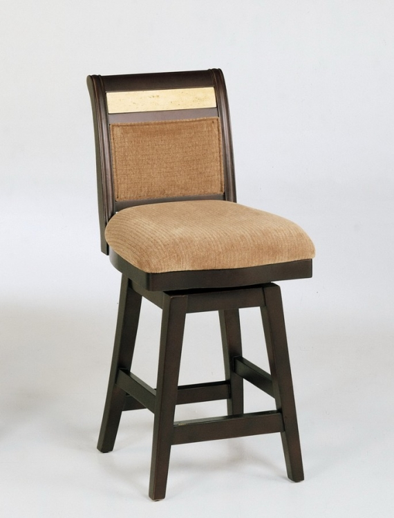 Counter High 26in Swivel Barstool - Beige Chenille Fabric
