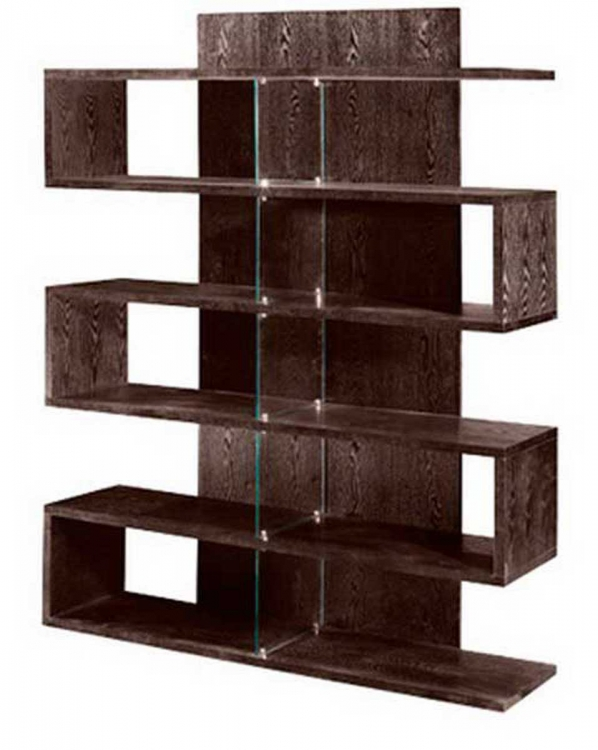 Contemporary Bookcase - Chocolate - Armen Living