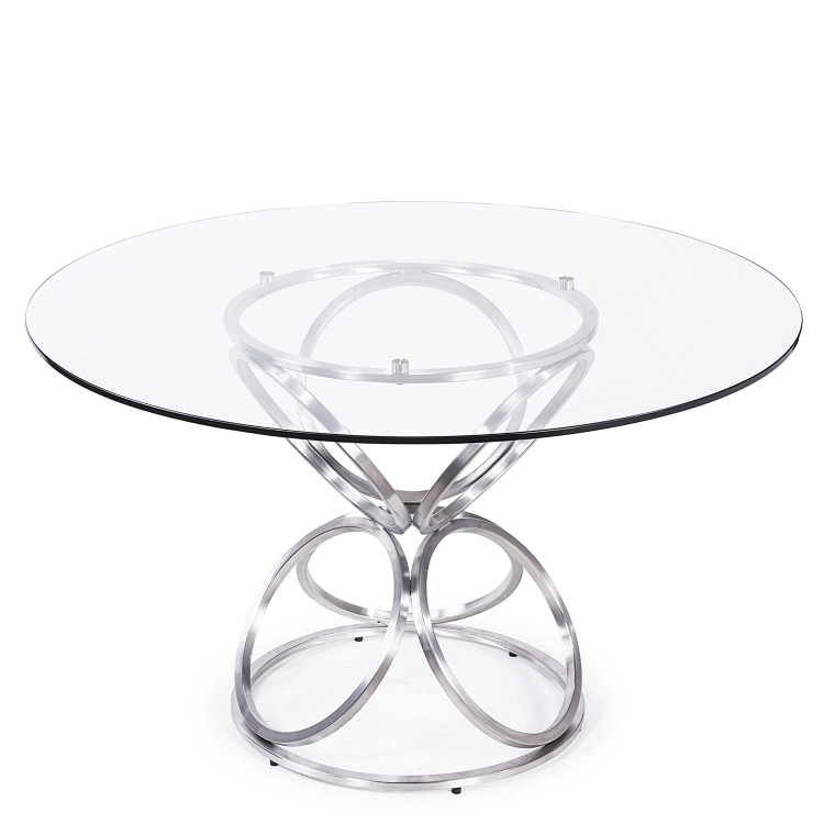 Brooke 48-inch Round Dining Table - Grey