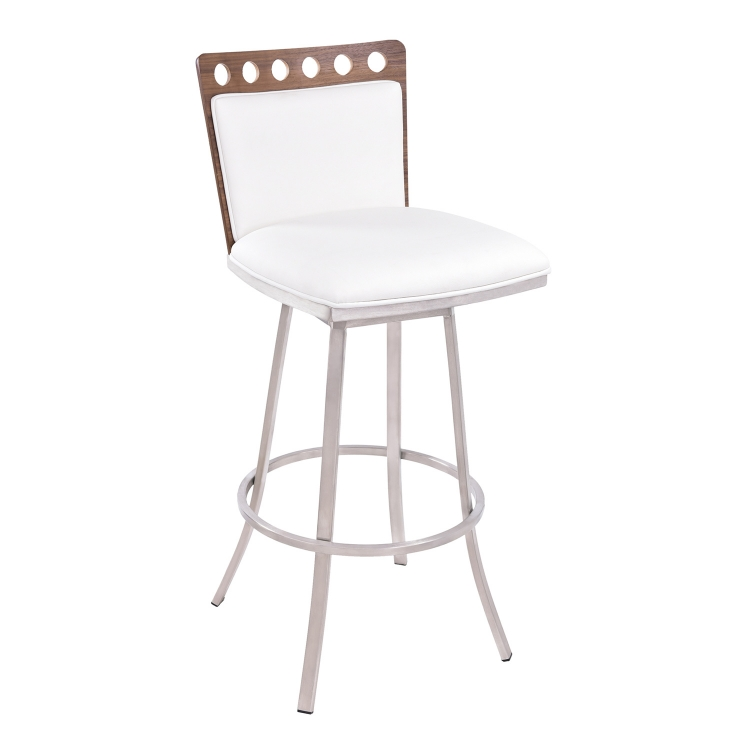 Coco 26-inch Bar Stool - Walnut Back