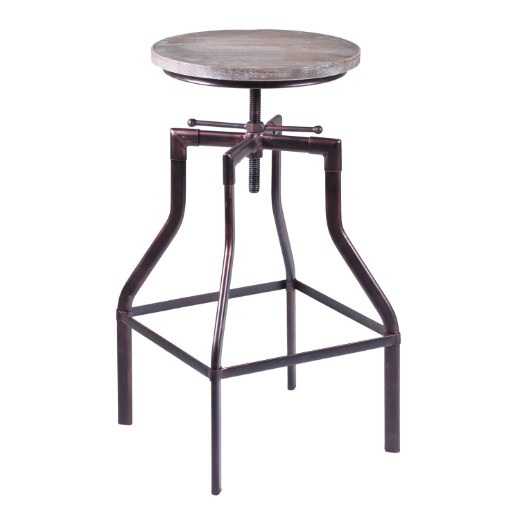 Concord Adjustable Bar Stool - Copper
