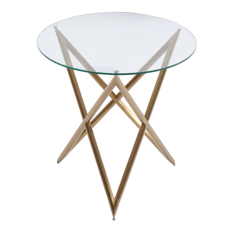 Crest End Table - Gold