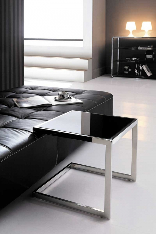 Debby End Table - Stainless Steel - Armen Living