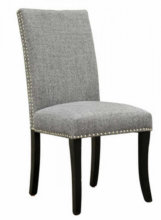 Accent Nail Side Chair - Charcoal Fabric