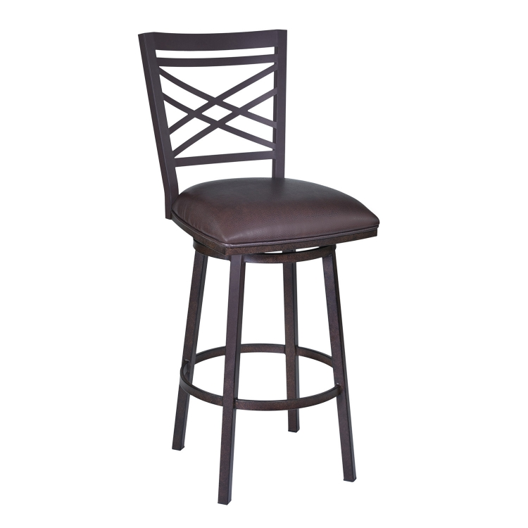 Fargo 26-inch Bar Stool - Brown Leatherette