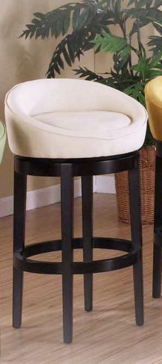 Igloo Crme Micro Fiber 26in Swivel Barstool - Eboney Finished Legs