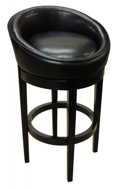 Igloo-Kd 30-Inch Swivel Barstool - Black