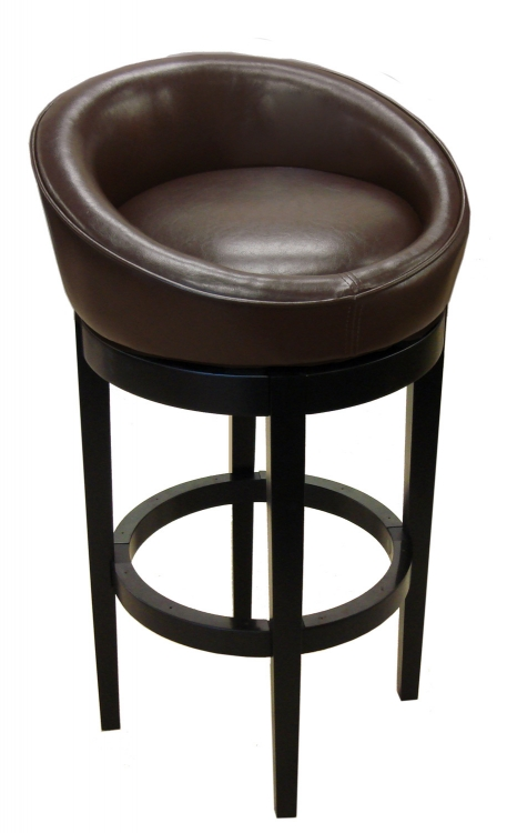 Igloo-Kd 30-Inch Swivel Barstool - Brown
