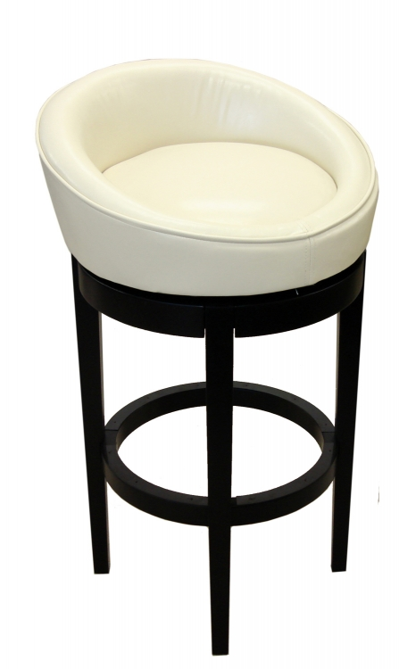 Igloo-Kd 30-Inch Swivel Barstool - Cream