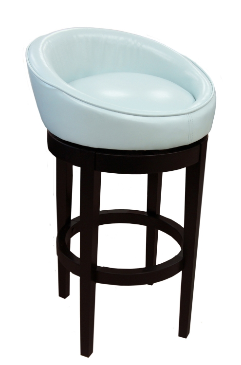Igloo-Kd 30-Inch Swivel Barstool - Sky Blue