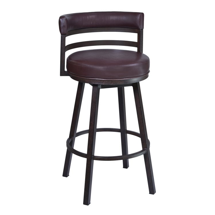 Madrid 26-inch Bar Stool - Brown Leatherette