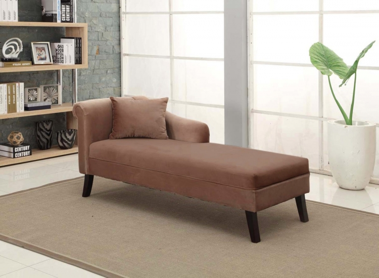 Patterson Chenille Chaise - Brown