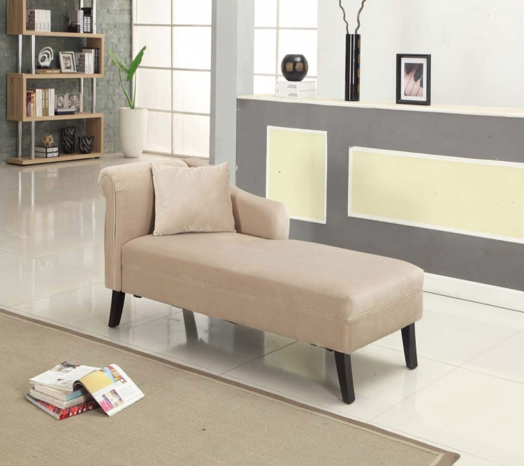 Patterson Taupe Chenille Chaise - Taupe