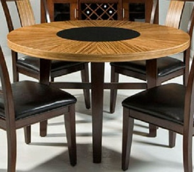Milano Dining Table - Zebrano - Armen Living