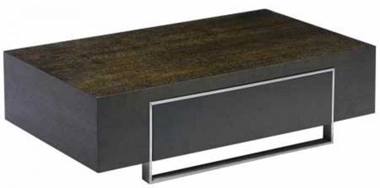 Modern Coffee Table - Dark Chocolate/Open Pore Veneer - Armen Living