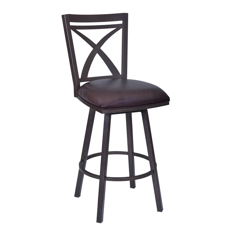 Nova 26-inch Bar Stool - Brown Leatherette