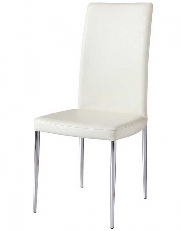 Posto Side Chair - White Leatherette
