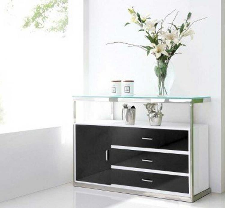 Rondo Modern Buffet - White/Black