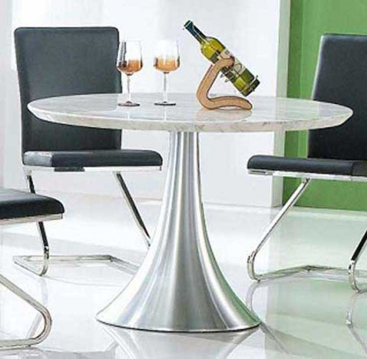 Rondo Marble Dining Table - White